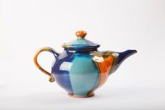 färgrik teapot Royaltyfria Bilder