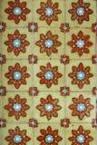 färgrik tegelplattavägg Royaltyfri Bild