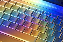 färgrik teknologi för datortangentbord Fotografering för Bildbyråer