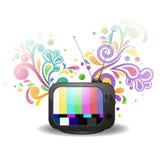 Färgrik televisionabstrakt begreppbakgrund Arkivbilder