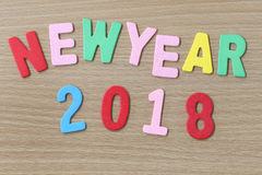 Färgrik text för nytt år Fotografering för Bildbyråer
