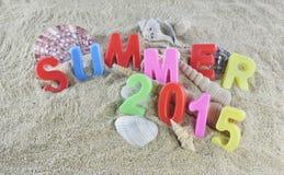 Färgrik text för sommar 2015 Royaltyfri Fotografi