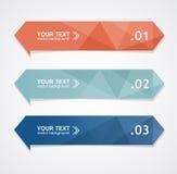 Färgrik textask för vektor Royaltyfri Bild
