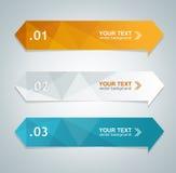 Färgrik textask för vektor Royaltyfri Fotografi