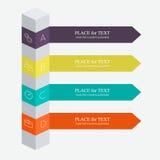Färgrik textask för vektor royaltyfri illustrationer