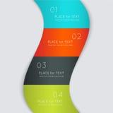 Färgrik textask för vektor, moderiktiga färger Royaltyfri Fotografi