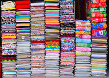 Färgrik textil royaltyfri fotografi