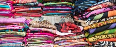 färgrik textil Fotografering för Bildbyråer