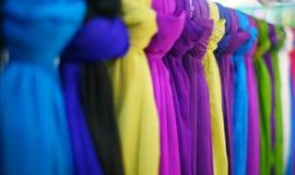 färgrik textil Royaltyfria Bilder