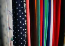 färgrik textil Arkivbild
