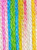Färgrik textur av vävvassen handcraft Fotografering för Bildbyråer