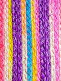 Färgrik textur av vävvassen handcraft Royaltyfri Bild