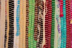 färgrik textur för matta Bakgrund av andalusian matta Jarapa Arkivbilder