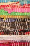 färgrik textur för matta Bakgrund av andalusian matta Jarapa Royaltyfria Foton