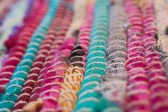 färgrik textur för matta Bakgrund av andalusian matta Jarapa Fotografering för Bildbyråer