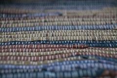färgrik textur för matta Bakgrund av andalusian matta Jarapa Arkivbild