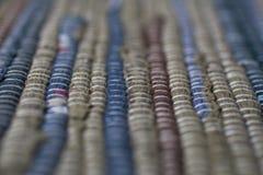 färgrik textur för matta Bakgrund av andalusian matta Jarapa Royaltyfria Bilder
