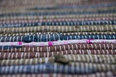 färgrik textur för matta Bakgrund av andalusian matta Jarapa Royaltyfri Fotografi