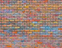 Färgrik textur för tegelstenvägg Royaltyfri Bild