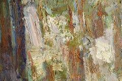 Färgrik texturcloseup för olje- målarfärg Royaltyfria Bilder
