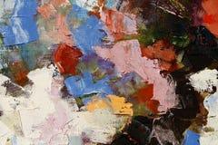 Färgrik texturcloseup för olje- målarfärg, härlig bakgrundskonst Royaltyfria Foton