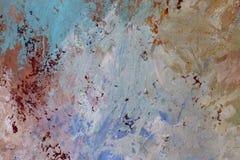 Färgrik texturcloseup för olje- målarfärg, härlig bakgrundskonst Arkivbilder