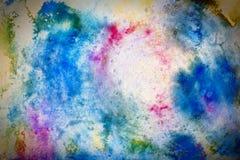 Färgrik texturerad vattenfärgbakgrund Royaltyfria Bilder