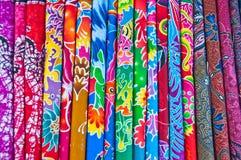 färgrik thai tygsilk Fotografering för Bildbyråer
