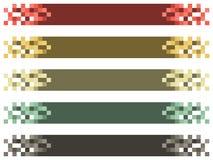 Färgrik titelstång/baner - vektorillustration Royaltyfri Fotografi