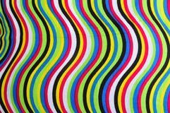 Färgrik torkduk med kurvor linje och modell Arkivbild