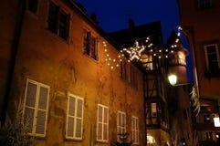 färgrik town royaltyfri fotografi