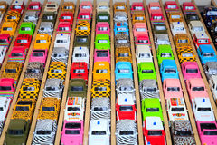 färgrik toy för bilar Arkivbild