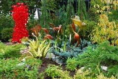 Färgrik trädgård av exponeringsglas royaltyfri foto