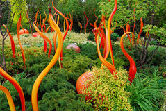 Färgrik trädgård av exponeringsglas arkivfoton