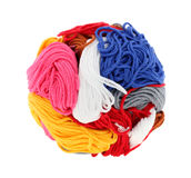 färgrik tråd för boll Arkivfoto