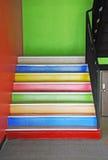 färgrik trappa Royaltyfri Foto