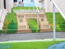 färgrik trappa Royaltyfri Bild