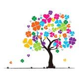 färgrik tree för växt av släkten Trifolium Royaltyfri Illustrationer
