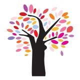 Färgrik Treeillustration Royaltyfri Fotografi