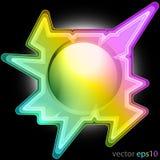 Färgrik triangel dekorerad fyrkantig ramvektor Royaltyfri Bild