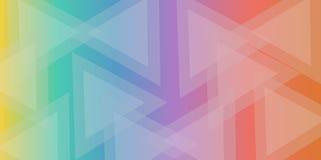 Färgrik triangelabstrakt begreppbakgrund Royaltyfri Fotografi