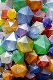 Färgrik triangulär bakgrundstextur Foto av färgrika december Royaltyfria Bilder