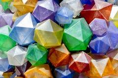 Färgrik triangulär bakgrundstextur Foto av färgrika december Royaltyfri Bild