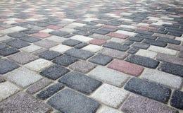 Färgrik trottoar i perspektivbakgrund Royaltyfri Foto