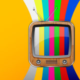 Färgrik TV ingen signalbakgrund Fotografering för Bildbyråer