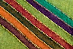 färgrik tygtextiltextur Royaltyfri Bild