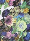 Färgrik tygtextur Arkivbilder