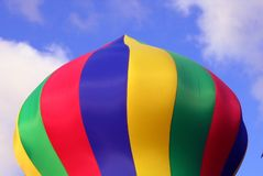 färgrik uppblåsbar pelare royaltyfri bild