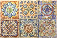 Färgrik uppsättning av dekorativa tegelplattor Royaltyfria Bilder