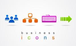 Färgrik uppsättning av internet för affärssymbolslogo Royaltyfria Bilder